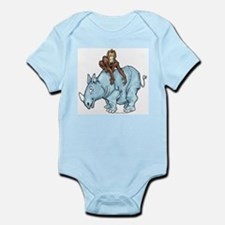 Chimp on Rhino Infant Creeper