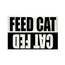 Feed Cat/Cat Fed Rectangle Magnet