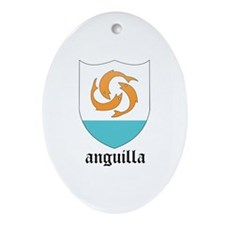 Anguillan Coat of Arms Seal Oval Ornament