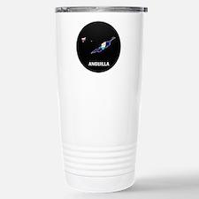Flag Map of Anguilla Travel Mug