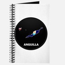 Flag Map of Anguilla Journal