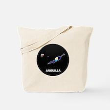 Flag Map of Anguilla Tote Bag