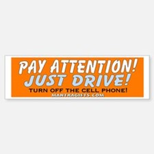Pay Attention Bumper Car Car Sticker