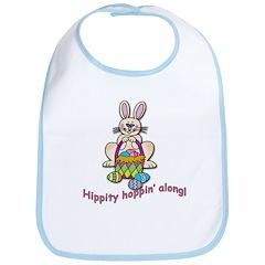 Hippity Hopping Along Easter Bunny Bib