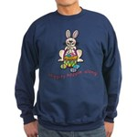 Hippity Hopping Along Easter Bunny Sweatshirt (dar