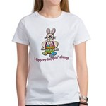 Hippity Hopping Along Easter Bunny Women's T-Shirt