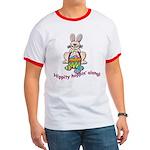 Hippity Hopping Along Easter Bunny Ringer T