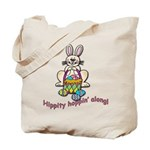Hippity Hopping Along Easter Bunny Tote Bag