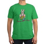 Hippity Hopping Along Easter Bunny Men's Fitted T-