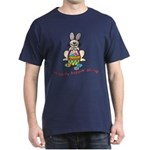 Hippity Hopping Along Easter Bunny Dark T-Shirt