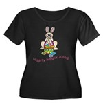 Hippity Hopping Along Easter Bunny Women's Plus Si