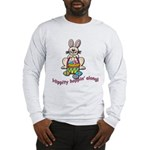 Hippity Hopping Along Easter Bunny Long Sleeve T-S