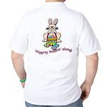 Hippity Hopping Along Easter Bunny Golf Shirt