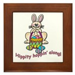 Hippity Hopping Along Easter Bunny Framed Tile