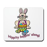Hippity Hopping Along Easter Bunny Mousepad