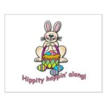 Hippity Hopping Along Easter Bunny Small Poster