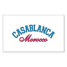 Casablanca Morocco Rectangle Decal