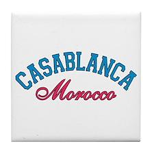 Casablanca Morocco Tile Coaster