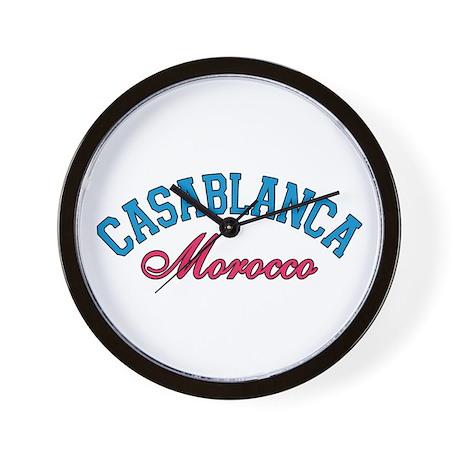 Casablanca Morocco Wall Clock
