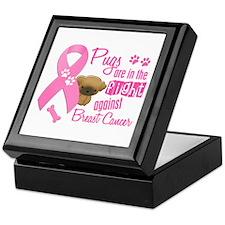Pugs Against Breast Cancer 2 Keepsake Box