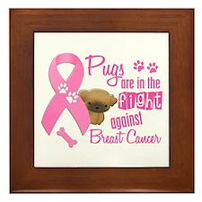 Pugs Against Breast Cancer 2 Framed Tile