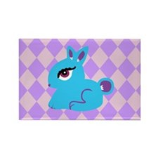 Cute Bunny Rabbit Rectangle Magnet