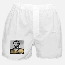 Abraham Lincoln's Pocket Watch Boxer Shorts