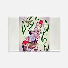 Tattooed Santa Rectangle Magnet (10 pack)