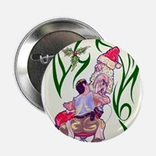 "Tattooed Santa 2.25"" Button (10 pack)"