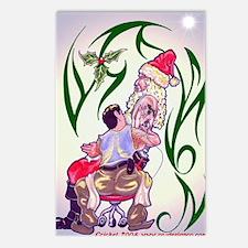Tattooed Santa Postcards (Package of 8)