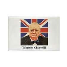 """Winston Churchill"" Rectangle Magnet"