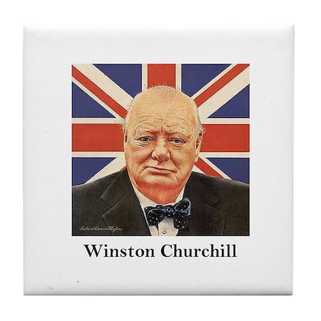 """""""Winston Churchill"""" Tile Coaster"""