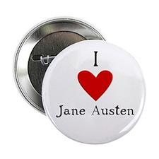 """Jane Austen Love 2.25"""" Button"""