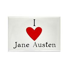 Jane Austen Love Rectangle Magnet