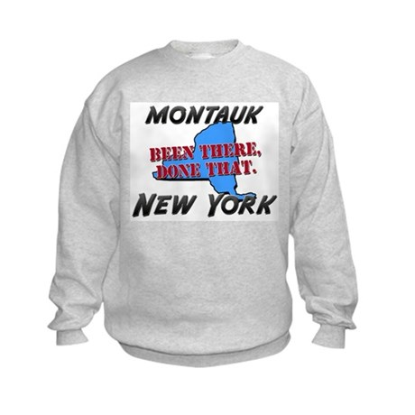 montauk new york - been there, done that Kids Swea