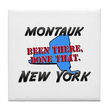 montauk new york - been there, done that Tile Coas