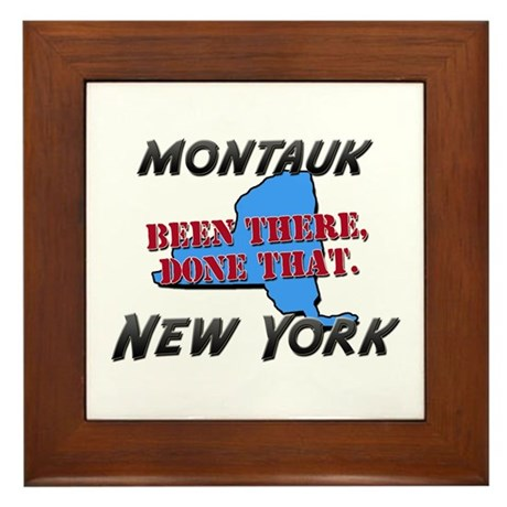 montauk new york - been there, done that Framed Ti