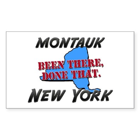 montauk new york - been there, done that Sticker (
