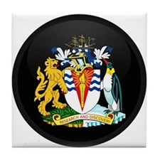 Coat of Arms of Antarctica Tile Coaster