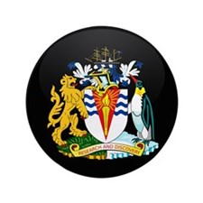 """Coat of Arms of Antarctica 3.5"""" Button"""