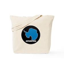 Flag Map of Antarctica Tote Bag