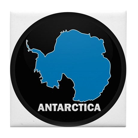 Flag Map of Antarctica Tile Coaster