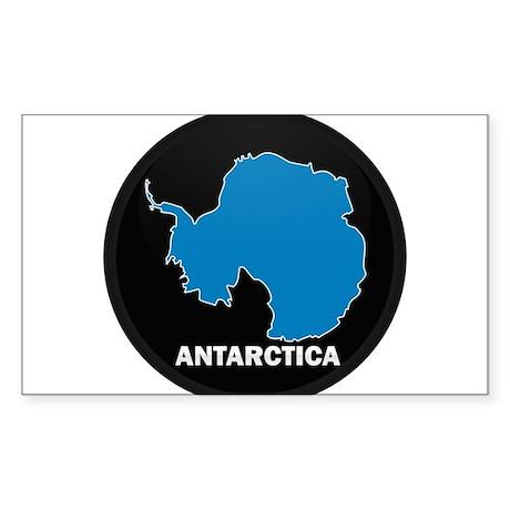 Flag Map of Antarctica Rectangle Sticker