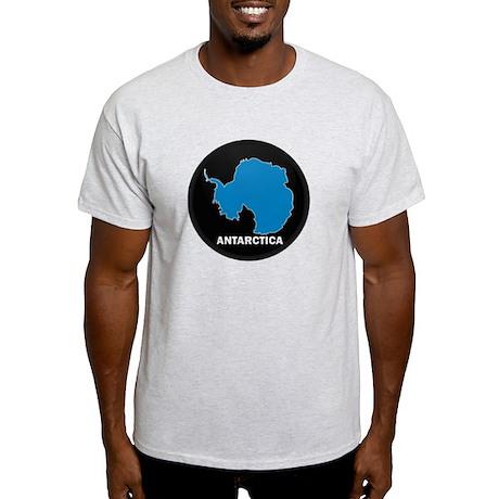 Flag Map of Antarctica Light T-Shirt