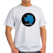Flag Map of Antarctica T-Shirt