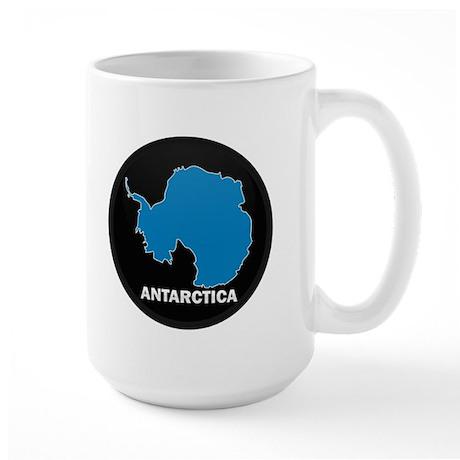 Flag Map of Antarctica Large Mug
