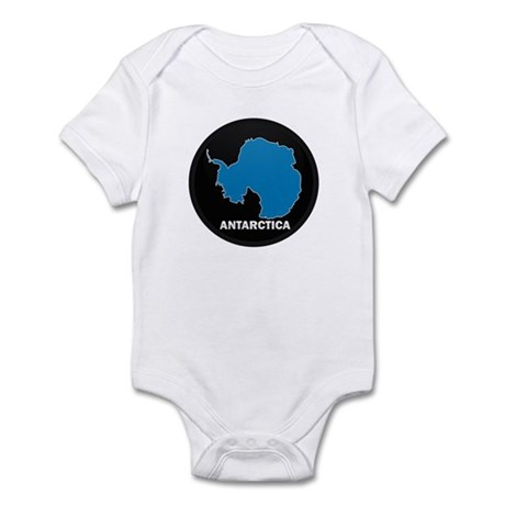Flag Map of Antarctica Infant Bodysuit