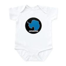 Flag Map of Antarctica Infant Bodysuit
