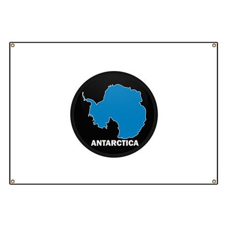 Flag Map of Antarctica Banner