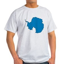 Antarctica Flag Map T-Shirt